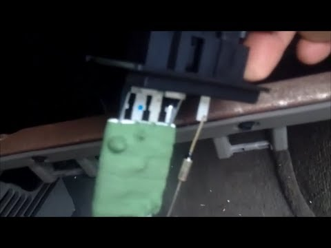Dodge Caravan Blower Motor Resistor Youtube