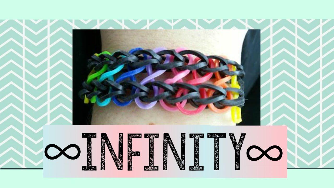 Cara Membuat Gelang Rainbow Loom/Loom Bands Infinity - YouTube