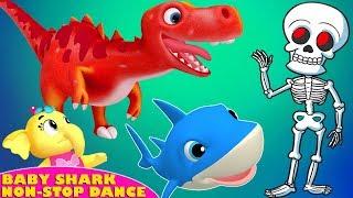 Baby Shark Dance   Scary Song + Dinosaur Song + Shark Song Do Do Do For Kids   6 Minutes Non Stop
