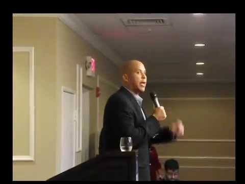 Sen Cory Booker On Campaign Trail In Bergen County