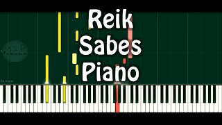 Reik Sabes Versión Piano