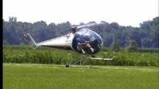 Helicopter pilot loses control on takeoff.