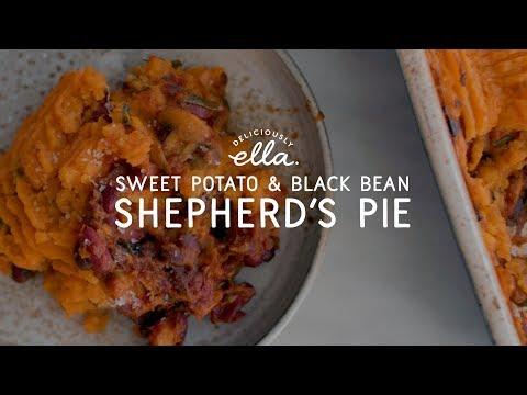 Sweet Potato and Black Bean Shepherd's Pie | Vegan | Deliciously Ella