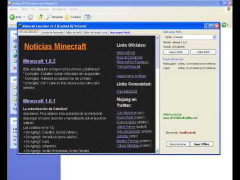 Como Descargar e Instalar Minecraft 1.6.2 ¡DEFINITIVO Y PIRATA! [Tutorial En Español] [Launcher]