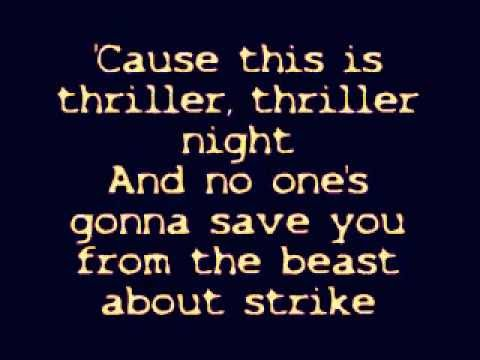 Thriller lyrics youtube