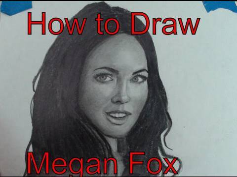 How to Draw Megan Fox Step by Step