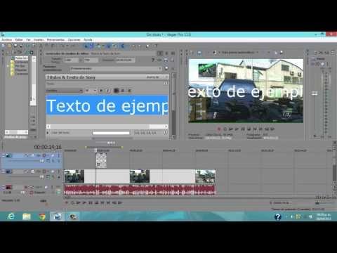 [Tutorial] Sony vegas pro 12 y 13 Como poner letras con animación HD
