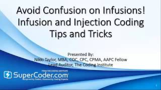 Avoid Confusion on Infusions! Infusion and Injection Coding Tips and Tricks