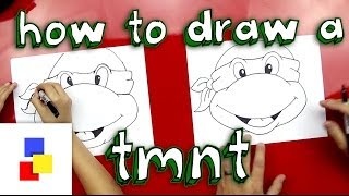 How To Draw A Teenage Mutant Ninja Turtle Face