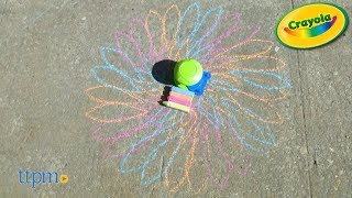 Washable Sidewalk Chalk Spiral Art from Crayola