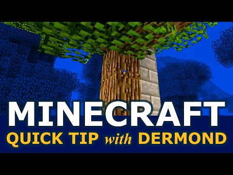 Minecraft Quick Tip: Force tall oak trees to grow every time! (1.6.2)