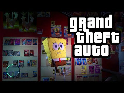 Spongebob Squarepants in GTA 4! (GTA Funny Moments with Mods: Spongebob Squarepants THE KILLER!)