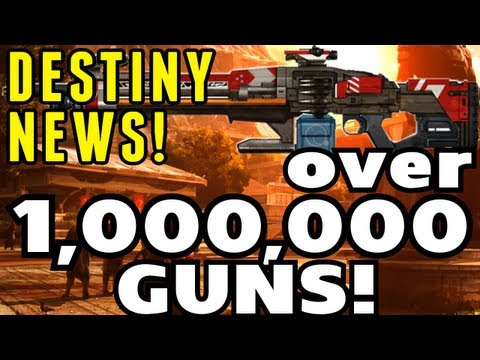Destiny News - 1 Million Guns? Map Sizes, and Details