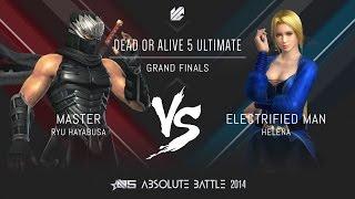 Absolute Battle 5 - DOA5U - Master vs Electrified Man Grand Finals