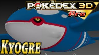 Pokemon #382: Kyogre (Pokedex 3D Pro)