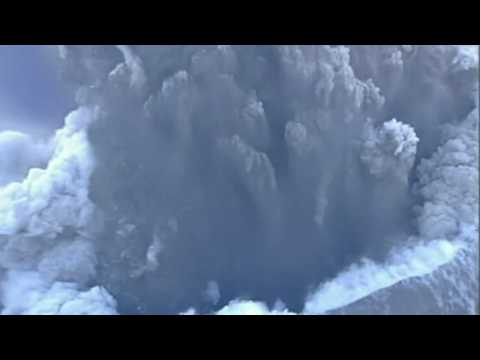 Spectacular footage from above the volcanic crater Video