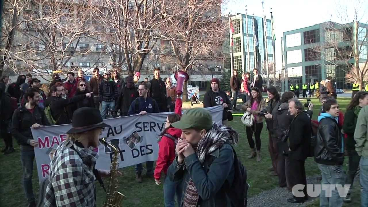 Manifestation Non Aux Mesures d'Austrit  Longueuil