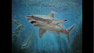 My First Painting:  Great White Shark