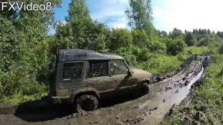 Land Rover Discovery I vs Nissan Pathfinder R51 - offroad - Корчева