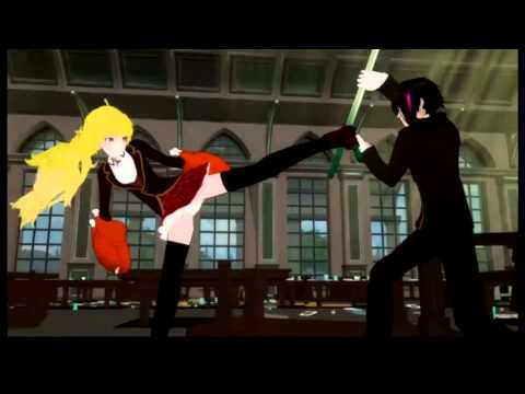 RWBY - Season 2 Episode 1 - BEST FOOD FIGHT EVERRR!!!!!!!!!!!!!!!! Rip, Monty Oum