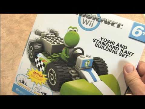 Classic Game Room - MARIO KART K'NEX: YOSHI and STANDARD KART set