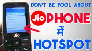 Can we Use Hotspot in Jio Phone ?| Make Or Enable Wifi Hotspot In JioPhone ?