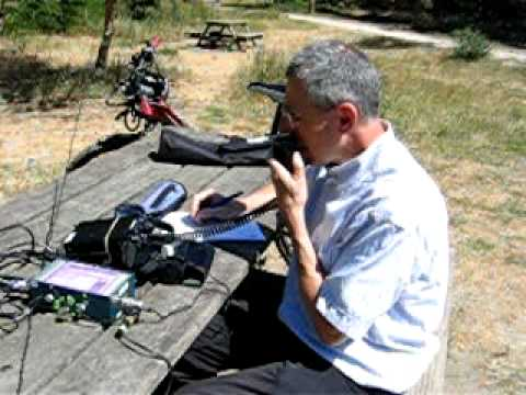 F5MOX (Grard) QRP EN QSO AVEC G3YBG (John)- Interview live ham radio