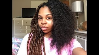 TAKING OUT MY BOX BRAIDS + LENGTH CHECK   CrySTYLE Beauty