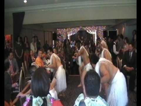 Niue Dance at Michael Savelio and Jannitta Pilisi's Pre-Wedding Luncheon at Sorrentos, One Tree Hill - Auckland New Zealand 23 October 2009. Male Dancers fro...