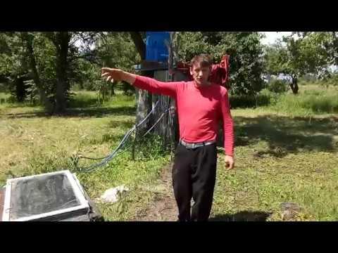 Солнечный коллектор водонагреватель .