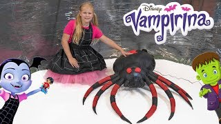 Assistant Vampirina Spider Food Hunt and Rides her Pony Cycle With Ryan Toy Review Toys