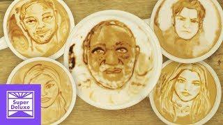 Celebrity Mug Shot Latte Art   Stoned Mode