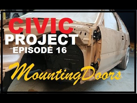 EF Civic project ep.16 (mounting the doors) back onto my honda.