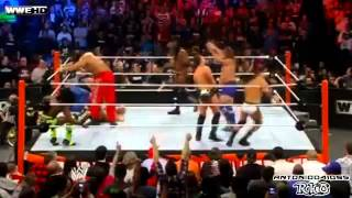 WWE Royal Rumble 2012 Highlights - 30 Man Over-The-Top-Rope Battle Royal (2/2) (HD)