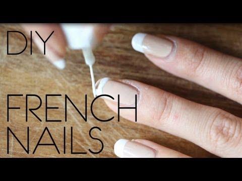 diy french nails leicht selber machen. Black Bedroom Furniture Sets. Home Design Ideas