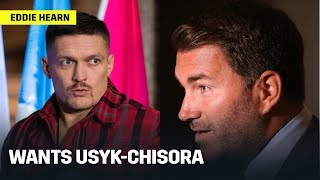 Eddie Hearn Wants To Make Usyk-Chisora; Talks Smith-Ryder Decision & Canelo's Next Opponent