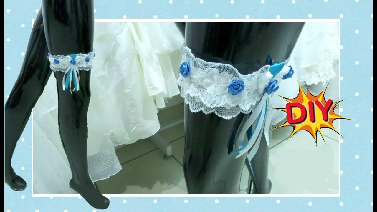 Шьем своими руками подвязки для невест