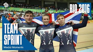 Team GB Cycling Men's Team Sprint Gold | Rio 2016 Medal Moments