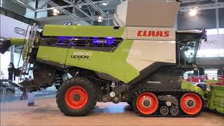 AGRITECHNICA 2019 - new Claas Lexion, Xerion, Jaguar on tracks