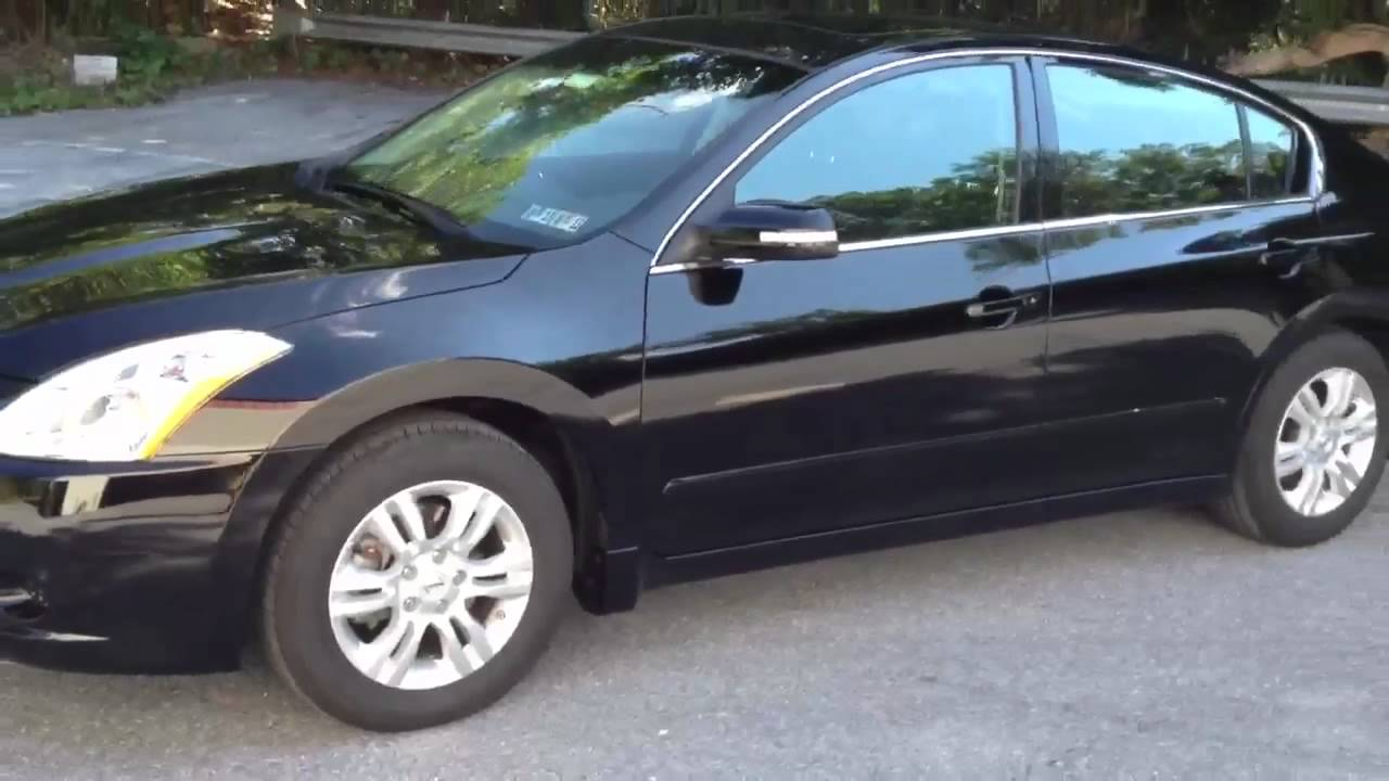 Nissan Altima 2014 Black With Tinted Windows 2012 Nissan Altima window tint