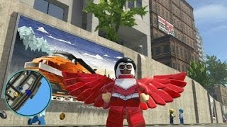 LEGO Marvel Super Heroes - Falcon Free Roam Gameplay (DLC Super Pack)