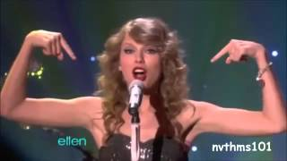 Taylor Swift and Selena Gomez singing You Belong with me