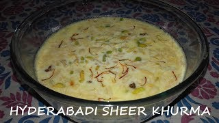 Hyderabadi Sheer Khurma Recipe Video | Learn How To Make Eid Special Hyderabadi Sheer Khurma/Khorma