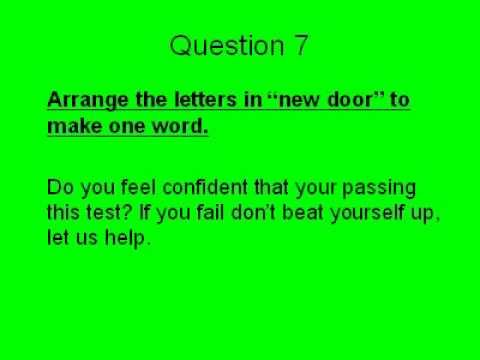 Common Sense Questions Common Sense Test