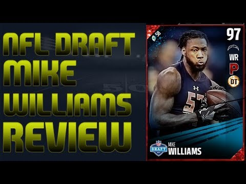 97 NFL Draft Mike Williams Review | Madden 17 Ultimate Team Player Review