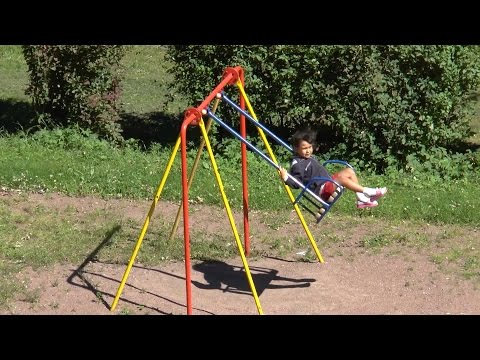 Kids on Swing at Outdoor Park (Hanging Seat) Music Video Lullaby