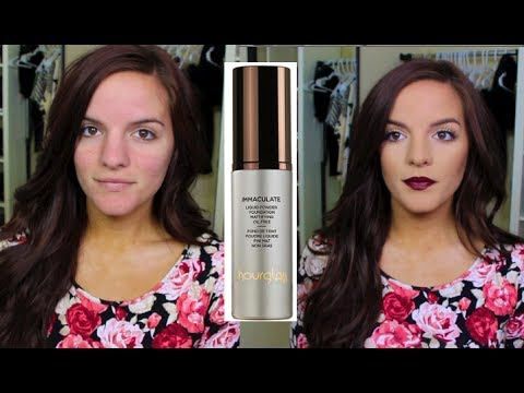 HOURGLASS Immaculate Liquid Powder Foundation   Review & Demo