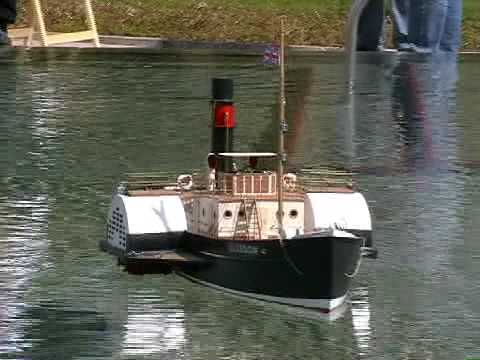 RC Paddle Steamer Boat - Glasgow - Steam Tug Boat