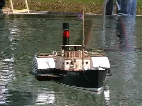 RC Paddle Steamer Boat - Glasgow - Steam Tug Boat - YouTube