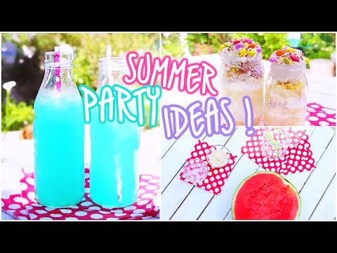 Summer Party Ideas: Snacks & Beverages!♥